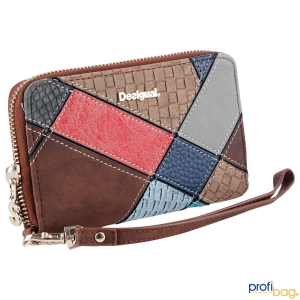 Desigual Damen Geldbörse Money Mini Zip Atlas (71Y9YE9 6001)