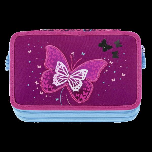 Vorderansicht Step by Step XXL-Mäppchen FLASH Shiny Butterfly mit 3 Fächer