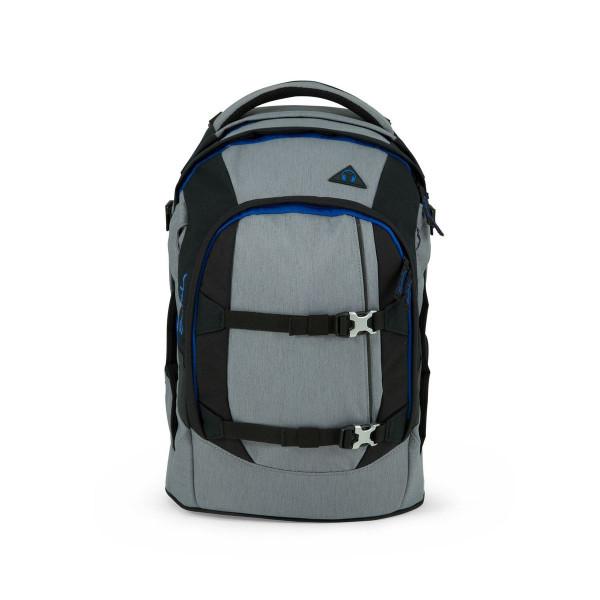 Vorderansicht Satch Pack Schulrucksack Grey Ray