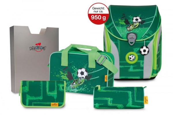 DerDieDas ErgoFlex MAX GREEN GOAL Schulranzen Set 5tlg. - 950g