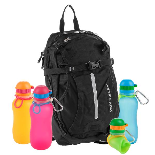 """das """"Sommer-Wander-Rucksack-ANGEBOT"""" - High Sierra Rucksack Symmetry + Viv Bottle 3.0 Silikon Trinkf"""
