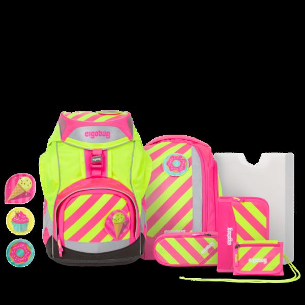 Übersicht Ergobag Pack 7-teiliges Schulrucksack-Set Neo Edition StrahleBär
