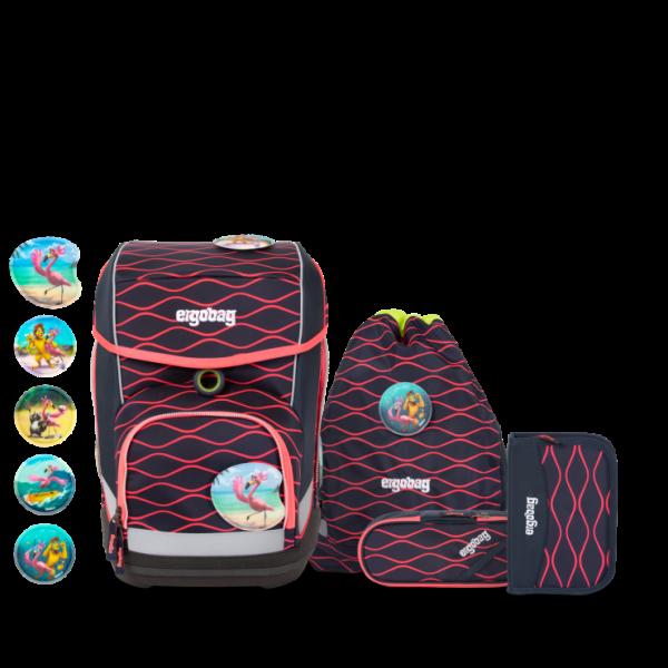 Übersicht Ergobag Cubo 5-teiliges Schulranzen-Set LUMI Edition WellenreitBär