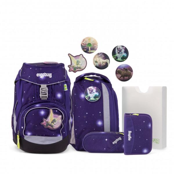 Übersicht Ergobag Pack Schulrucksack-Set FeenzauBär Galaxy GLOW Edition 6-teilig