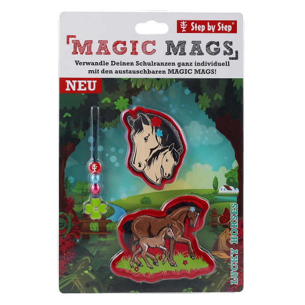 "Vorderansicht Step by Step Magnetbilder MAGIC MAGS Set 3-teilig ""Lucky Horses"""