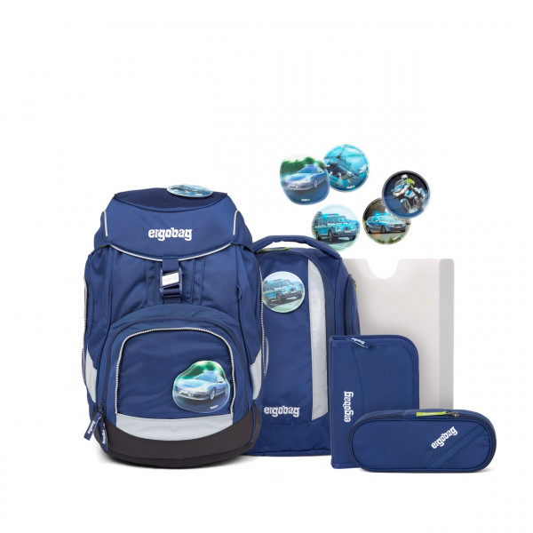 ergobag pack Schulrucksack-Set BlauchlichtBär (2021)