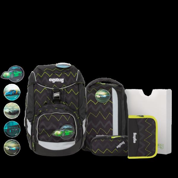 Übersicht Ergobag Pack 6-teiliges Schulrucksack-Set Drunter und DrüBär