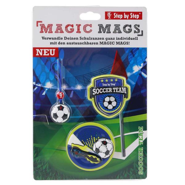 "Vorderseite Step by Step Magnetbilder MAGIC MAGS Set 3-teilig ""Soccer Team"""