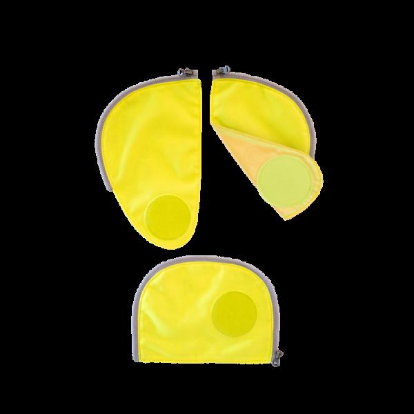 Vorderansicht Ergobag Cubo Sicherheitsset Gelb