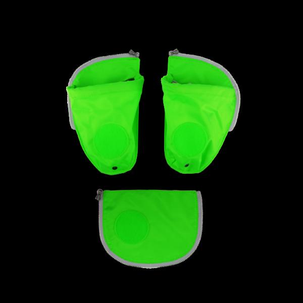 Übersicht Ergobag Pack Seitentaschen Zip-Set Grün 3-teilig