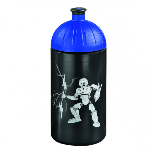 Step by Step Trinkflasche Strongly Robot Schwarz