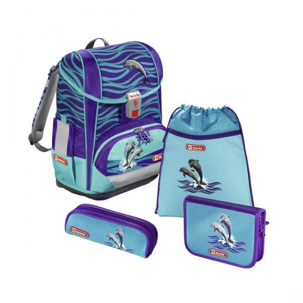 Übersicht Step by Step Light 2 Schulranzen-Set Happy Dolphins 4-teilig