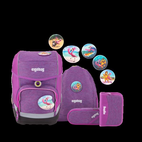 Übersicht Ergobag Cubo MIXMAX Edition Schulranzen-Set Insel HoppBär 5-teilig