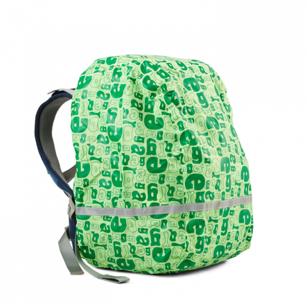 Vorderseite Ergobag Regencape Groovy Green