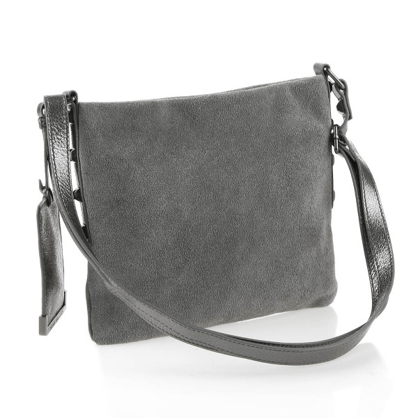 George Gina & Lucy St. Besso Handtasche Leder tosca griss