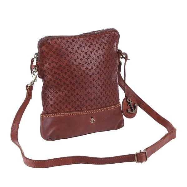 Vorderseite Harbour 2nd Leder Handtasche mit kleinem Anker-Laser Java