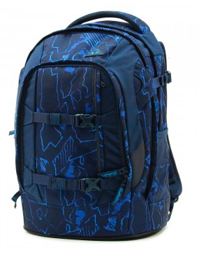 Vorderansicht Satch Pack Schulrucksack Blue Compass