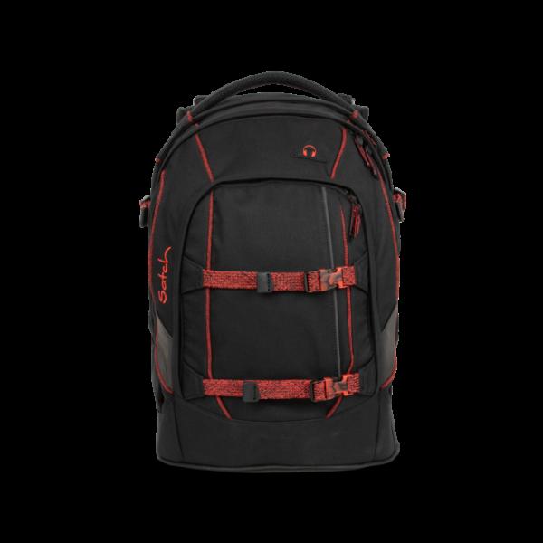 Vorderansicht Satch Pack Schulrucksack Black Volcano