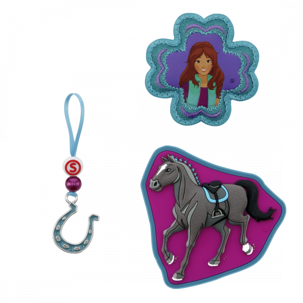 Vorderansicht Step by Step Magnetbilder MAGIC MAGS SCHLEICH Set 3-teilig Horse Club, Lisa & Storm