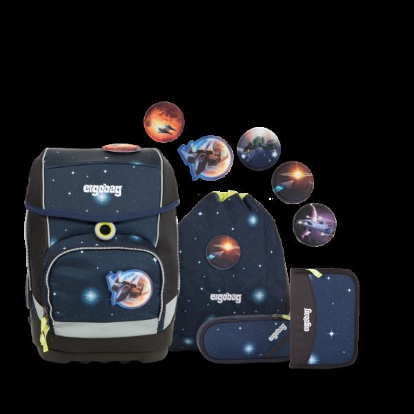 Übersicht Ergobag Cubo Schulranzen-Set KoBärnikus Galaxy GLOW Edition 5-teilig