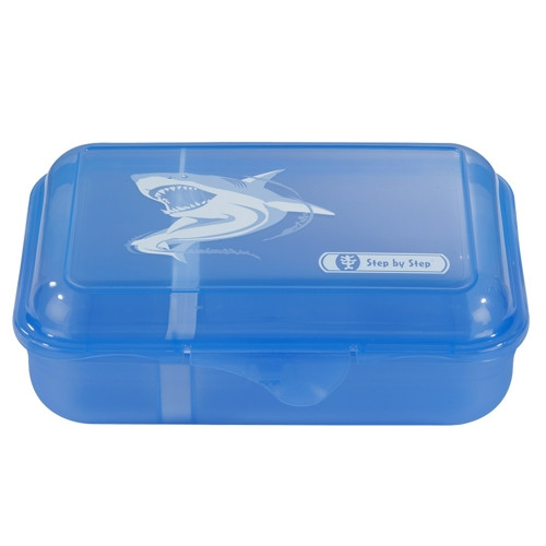 "Step by Step Lunchbox ""Angry Shark"", Blau"