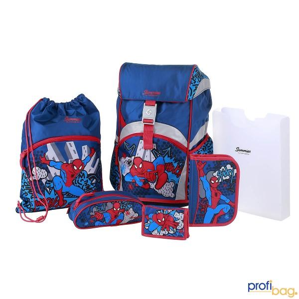 Gesamtansicht  Sammies Ergonomic Backpack Marvel Spiderman Pop Schulranzen-Set 6 teilig