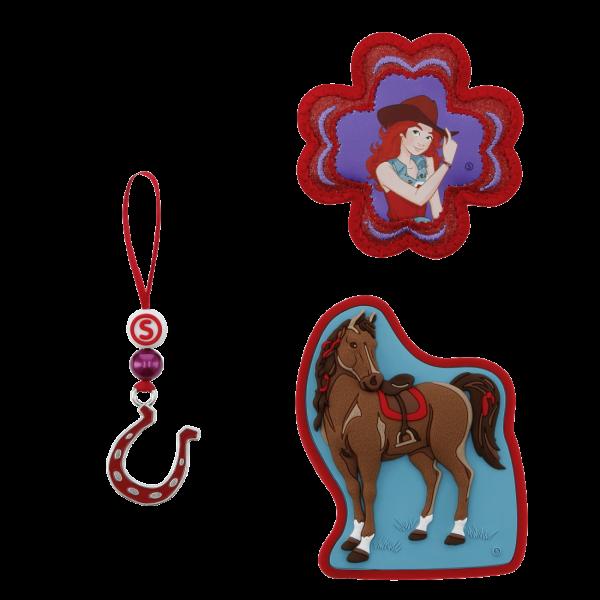 Vorderansicht Step by Step Magnetbilder MAGIC MAGS SCHLEICH Set 3-teilig Horse Club, Hannah & Cayenne