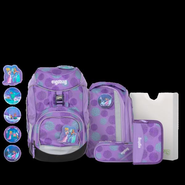 Übersicht Ergobag Pack 6-teiliges Schulrucksack-Set SchlittenzauBär REFLEX GLOW Edition