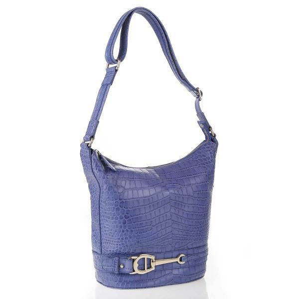 Aigner RV-Tasche Leder Iris Blau