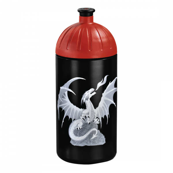 Vorderseite Step by Step Trinkflasche Fire Dragon Schwarz