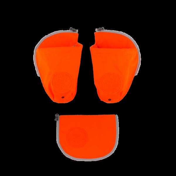 Ergobag Pack Cubo Cubo Light Seitentaschen Zip-Set Orange 3-teilig 2019/2020
