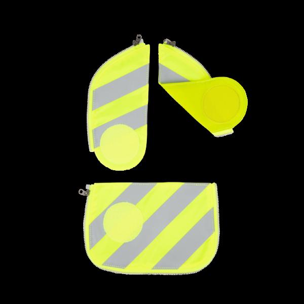 Vorderansicht Ergobag Cubo Sicherheitsset mit Reflektorstreifen Gelb 3-teilig