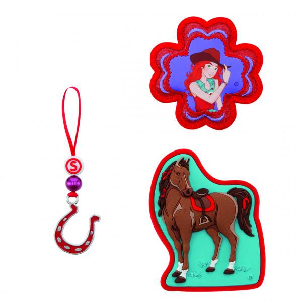 Step by Step Magnetbilder MAGIC MAGS SCHLEICH Set 3-teilig Horse Club, Hannah & Cayenne (139238)