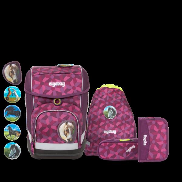 Übersicht Ergobag Cubo 5-teiliges Schulranzen-Set NachtschwärmBär