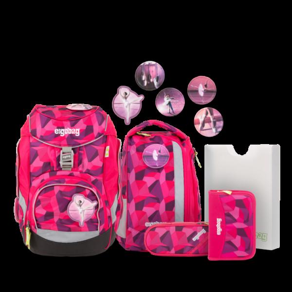 Übersicht Ergobag Pack 6-teiliges Schulrucksack-Set Prima Bärllerina