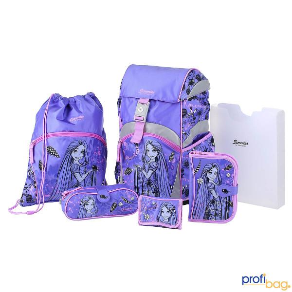 Gesamtansicht Sammies Ergonomic Backpack Disney Rapunzel Schulranzen-Set 6 teilig