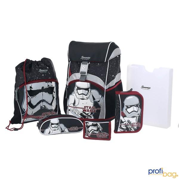 Gesamtansicht Sammies Ergonomic Backpack Star Wars TFA FL Schulranzen-Set 6 teilig