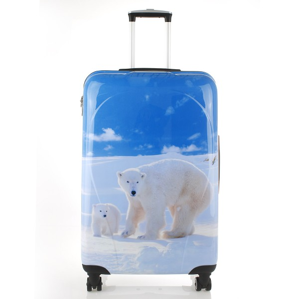 Vorderansicht Rada PC7 4-Rollen-Trolley 77 cm Polar Bear