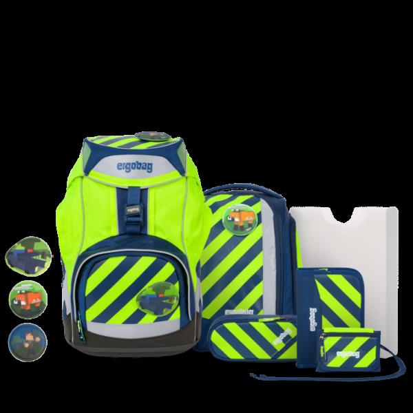 Vorderansicht Ergobag Pack 7-teiliges Schulrucksack-Set Neo Edition IllumiBär