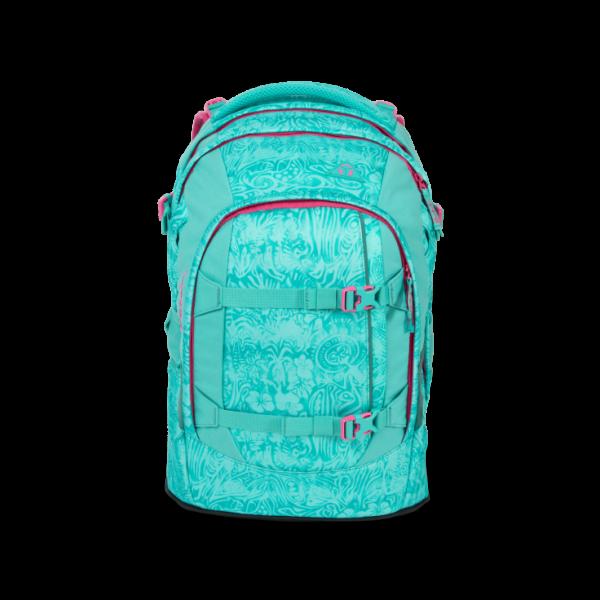 Vorderansicht Satch Pack Schulrucksack Aloha Mint