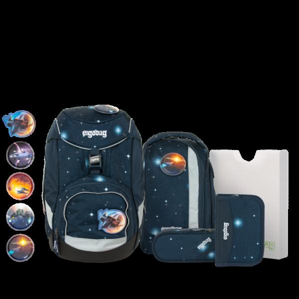 Übersicht Ergobag Pack 6-teiliges Schulrucksack-Set KoBärnikus REFLEX GLOW Edition