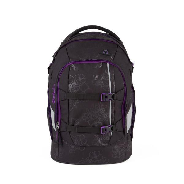 Vorderansicht Satch Pack Schulrucksack Purple Hibiscus