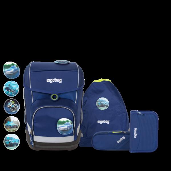 Übersicht Ergobag Cubo 5-teiliges Schulranzen-Set BlaulichtBär