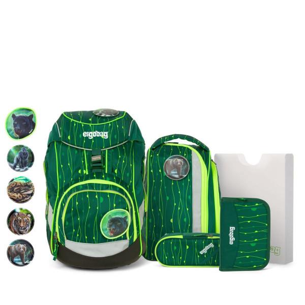 Übersicht Ergobag Pack 6-teiliges Schulrucksack-Set LUMI Edition RambazamBär