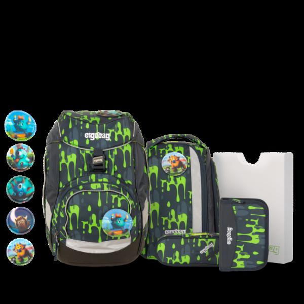 Übersicht Ergobag Pack 6-teiliges Schulrucksack-Set GlibbBär