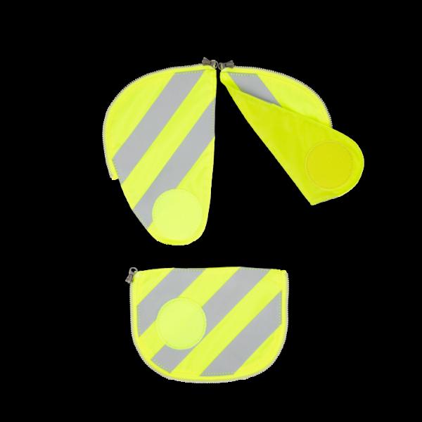 Vorderansicht Ergobag Pack Sicherheitsset mit Reflektorstreifen Gelb 3-teilig