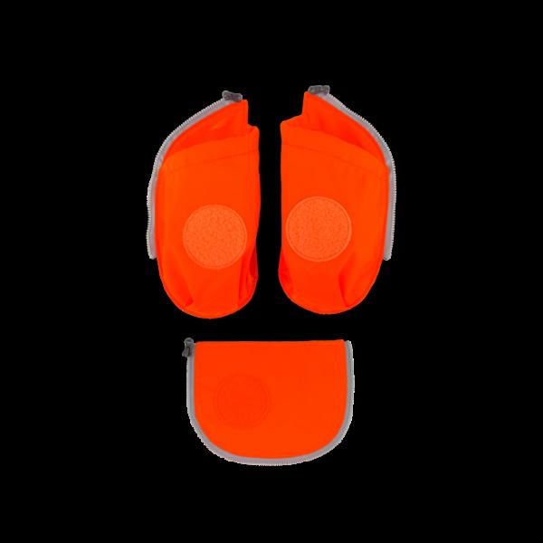 Übersicht Ergobag Cubo Seitentaschen Zip-Set Orange 3-teilig