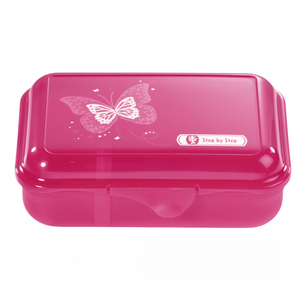 Step by Step Lunchbox Shiny Butterfly Pink