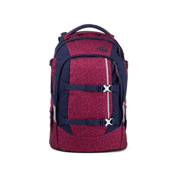 Vorderansicht Satch Pack Schulrucksack Blazing Purple