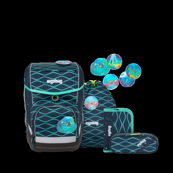 Übersicht Ergobag Cubo 5-teiliges Schulranzen-Set BlubbBär